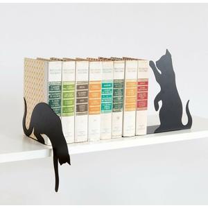 Coppia di fermalibri a forma di gatto Nero Design arti e mestieri metoo-design roma vendita