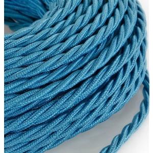 Cavo elettrico a treccia rivestito in tessuto Grezzo Turchese Azzurro