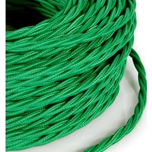 Cavo elettrico a treccia rivestito in tessuto Verde