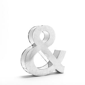 """Lettera Decorativa Metalvetica , Mod. """" & """", Design Seletti"""