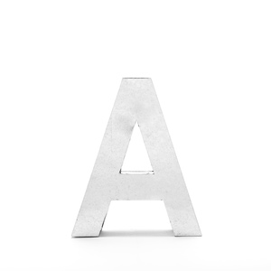 """Lettera Decorativa Metalvetica Mod. """" A """", Design Seletti"""