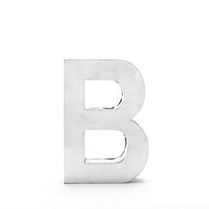 """Lettera Decorativa Metalvetica Mod. """" B """", Design Seletti"""