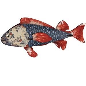 Trofeo Decorativo da parete pesce In Mdf Mod.HeartBreaker, Marca Miho