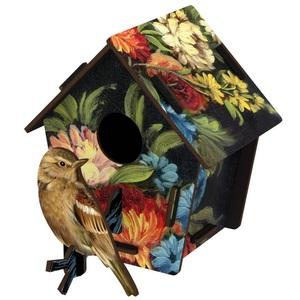 Casetta decorativa con uccellino in mdf, Mod. Coup De Theatre Design Miho