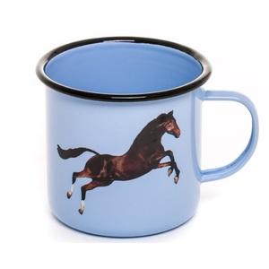 Tazza Mug In Metallo Smaltato, Horse, Design Seletti