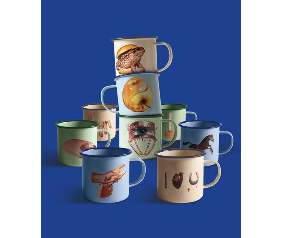 Se16856   seletti toilet paper tazza mug in metallo smaltato enamel mugs