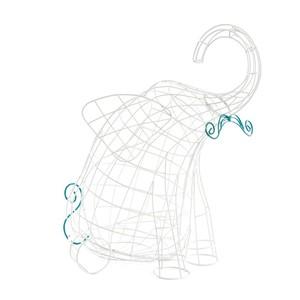 Cestino Fruttiera linea Fantastico Domestico Mod. Elefante, Marca Seletti