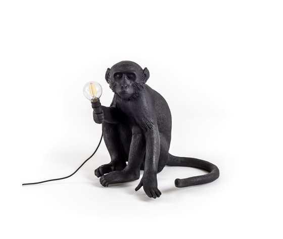 Seletti lighting monkeylamps black 14922 1