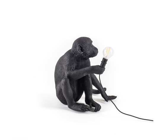 Seletti lighting monkeylamps black 14922 5