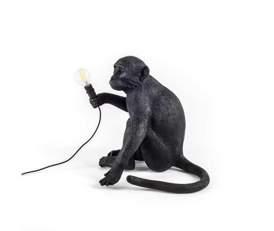 Seletti lighting monkeylamps black 14922 4