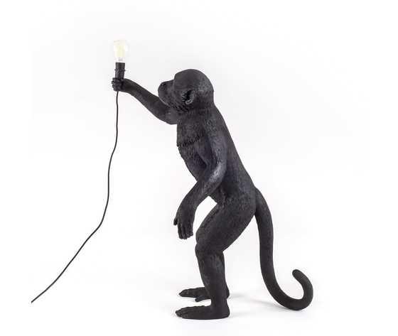 Seletti lighting monkeylamps black 14920 4