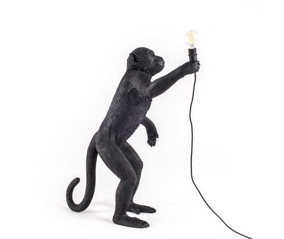 Seletti lighting monkeylamps black 14920 5