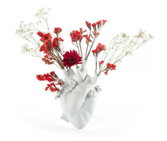Vaso porcellana love in bloom seletti cuore