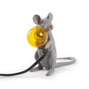 Lampada da tavolo moderna Mouse Lamp Sitting Grey led Giallo Seletti Grigio offerta metoo-design shoppingonline Roma