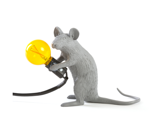 Seletti marcantonio mouse lamp grey 149394