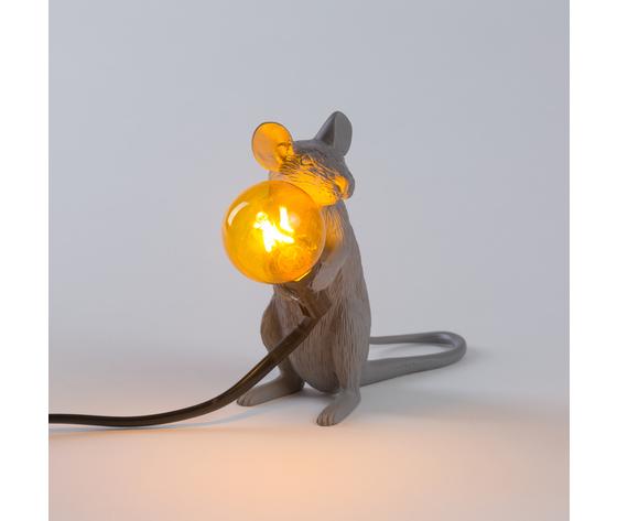 Seletti marcantonio mouse lamp grey 149392