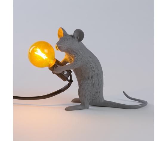 Seletti marcantonio mouse lamp grey 149395