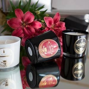 Candela  con Cera di Soia Profumo Holiday , Marca Laurus Luxury Fragrance