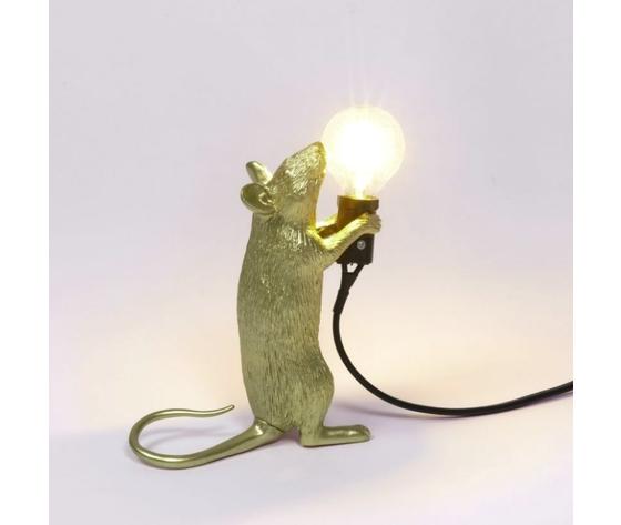 In piedi mouse lamp luce accesa seletti