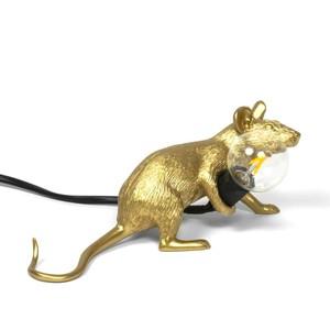 Mouselamp Gold Steso Seletti