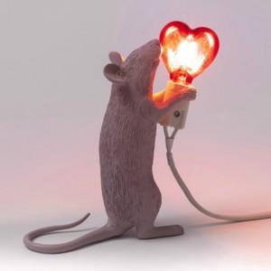 Mouselamp Love San Valentino Lampada moderna con Cuore Seletti