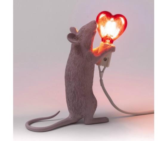 Mouse lamp sanvalentino cuore design