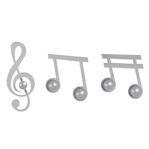 Set Appendi Abiti Note Musicali 3pz