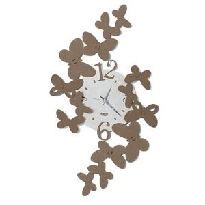orologio Con Farfalle Sagomate tridimensionale Papillon Beige Arti e mestieri