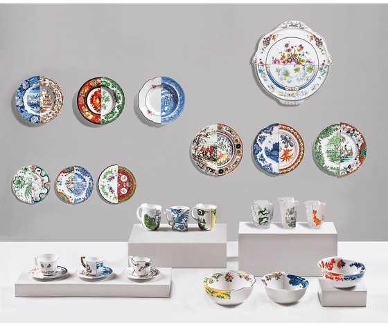 Dorotea porcelain tray hybrid collection seletti 4