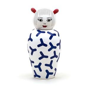 Vaso Porcellana Bianco e Blu Canopie Seletti Zoe
