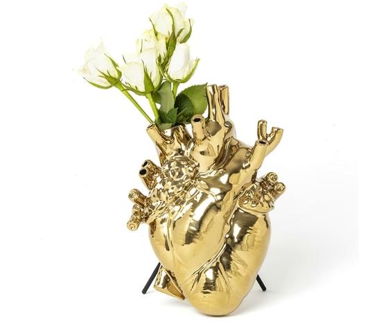 Love cuore vaso oro seletti
