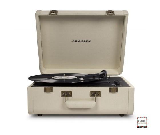 Crosley portfolio cream giradischi a valigetta by crosley