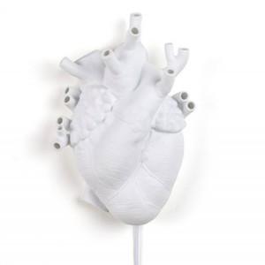 Lampada Porcellana Bianca Seletti Heart Lamp