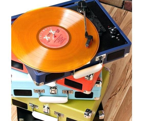 Red record player color classification black blue brown fluorescent green and crosley portfolio vinyl
