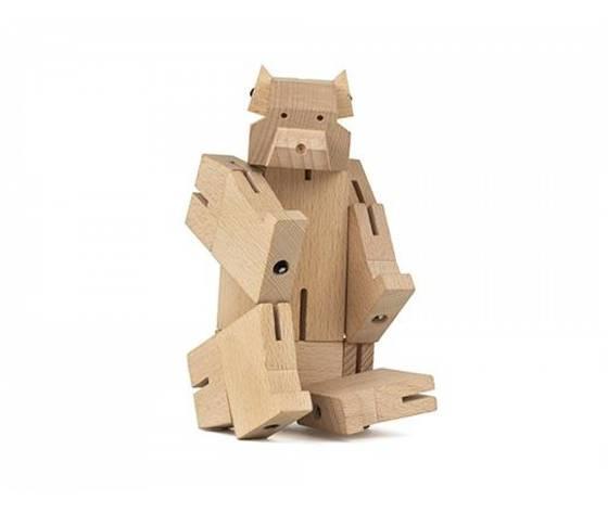 Square bear cub wooden puzzle 2