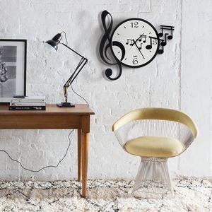 Orologio con chiave e note musicali Musica , Design Arti e Mestieri