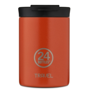 Travel Tumbler  24 Bottles  Borraccia Termica da Viaggio Mod. Sunset Orange da 350 Ml