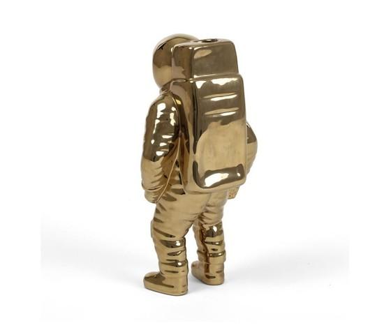 Seletti vaso in porcellana astronauta cosmic diner starman gold 15x11cm h28cm %282%29