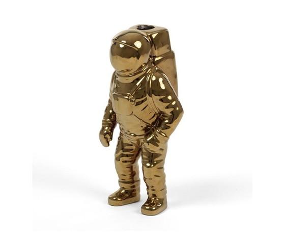 Seletti vaso in porcellana astronauta cosmic diner starman gold 15x11cm h28cm %283%29