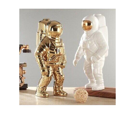 Ceramic flower planter vase space man sculpture astronaut