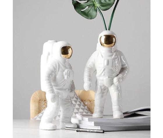 Nieuw huis decoraties keramische vaas ornamenten creatieve keramische astronauten beeldje bloemenvaas zonder bloem verjaardagscadeautjes