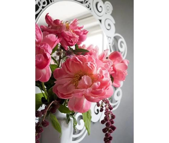 Dettaglio peonia orfeo specchio bianco artiemestieri