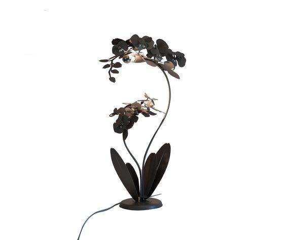 Lampada orchidea grande bronzo