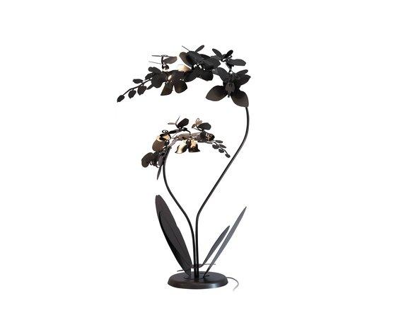 Lampada orchidea bronzo vero