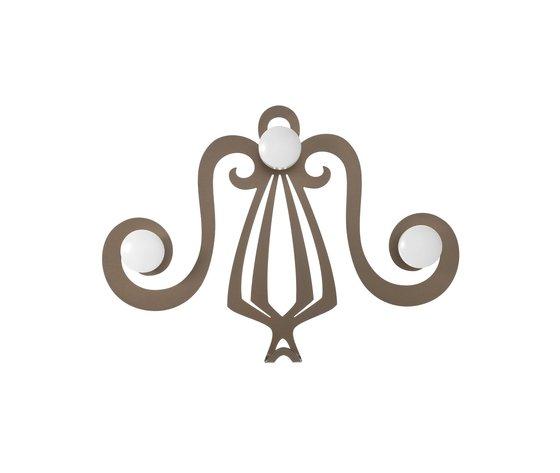 Gancio elegante dallo stile classico minerva 3308 c20 bronzo