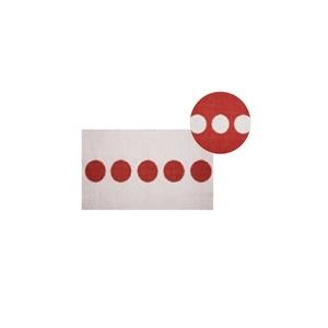 Tappeto da Interno / Esterno Red carpet Mod. Dot Rosso a Pois Pusher Design