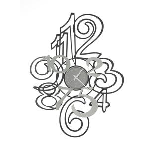 Orologio da Parete moderno con numeri sovrapposti mod. Profile Marca Arti e Mestieri