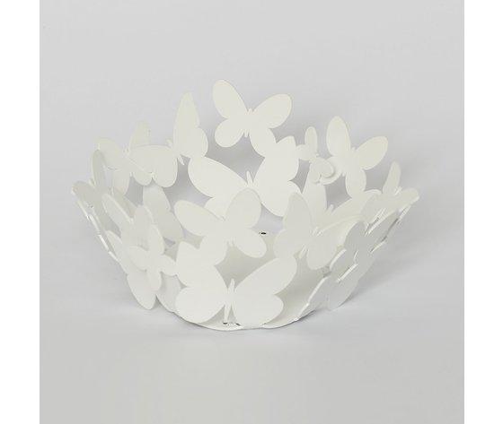 Cestino farfalle bianco