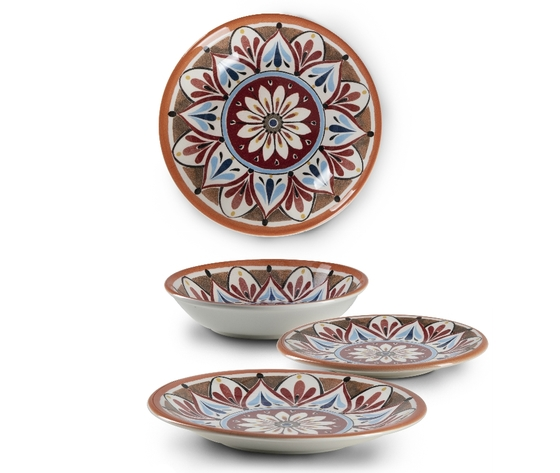 Set da 18 pz in ceramica madrid emporio zani