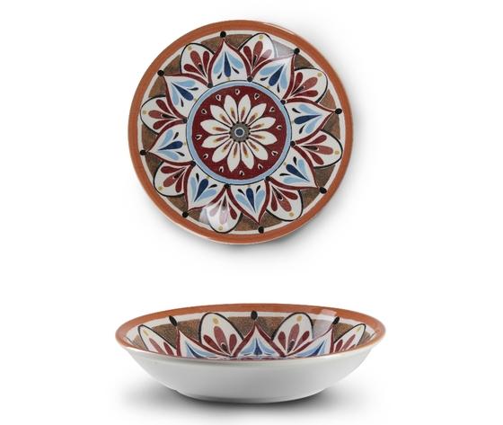Piatto fondo del set 18 pz ceramica madrid
